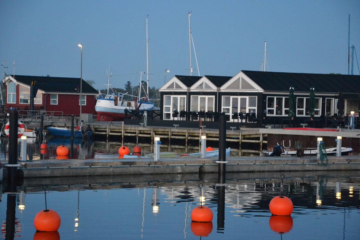 Selskabslokaler i Øster Hurup havn nær Hadsund
